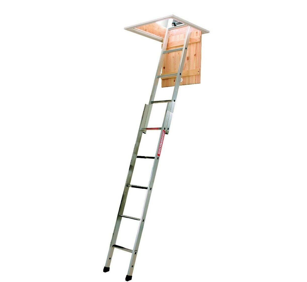 2 Section Aluminium Loft Ladder Installation in UK